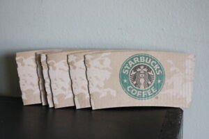 Starbucks To Go Coffee Cup Sleeves 2008 Mermaid Design Lot of 7 Free Shipping!