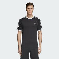 Camiseta Hombre adidas Originales CW1202 3-STRIPES Tee Negro Nueva