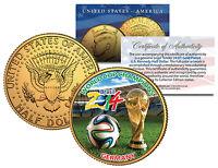 GERMANY CHAMPIONS - 2014 FIFA WORLD CUP BRAZIL 24K GOLD JFK Half Dollar US Coin