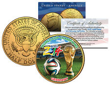 GERMANY CHAMPIONS - 2014 FIFA WORLD CUP BRAZIL 24K GOLD JFK Half Dollar US Coin