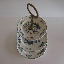 Serviteur porcelaine vitrifiée PHOENIX BLAU VILLEROY & BOCH art nouveau Germany