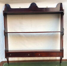 Large Antique Chippendale Style Wall Shelf In Mahogany