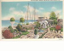Jesters Rock Garden  Arlington Park  Mobile  AL  Unused Linen Postcard 10244