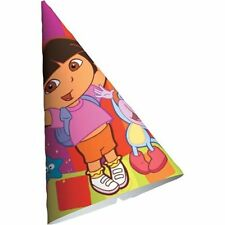 Nick Jr Dora the Explorer Cone Party Hats 8ct (NEW)