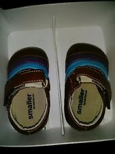 INFANT BABY GIRLS BROWN LEATHER MARY JANE SHOES by SEE KAI RUN SIZE 0-6