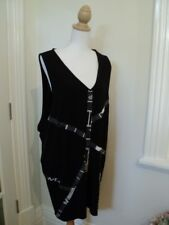 ts black long tunic top or vest S stretch