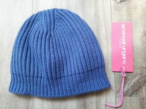 Emanuel Ungaro-womens blue wool/silk/cashmere beanie.M.Slightly used.