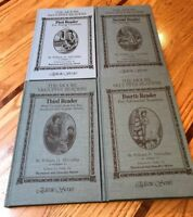 The Moore McGuffey Readers set 1-4 Edited by Raymond & Dorothy Moore Hardcover