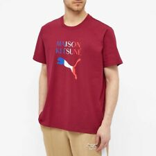 Puma x Maison Kitsune Oversized Tee Rhododendron Size Large Brand New With Tags
