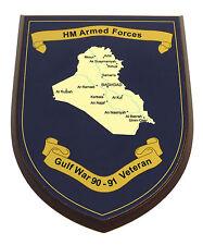 GULF WAR 90-91 OP GRANBY VETERAN HAND MADE MESS PLAQUE RLC REME RCT PARA ETC