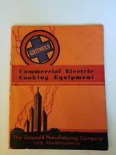 Griswold Commercial Electric Cooking Equipment Catalog #52 w/ 1950 Price Guide