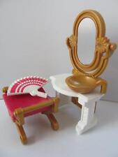 Playmobil Victoriano Dollshouse/Palacio Muebles: Tocador, Taburete & Ventilador Nuevo