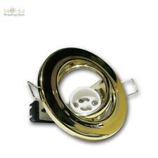 10X GU10 Telaio di montaggio per faretti da incasso ottone 230V LAMPADA