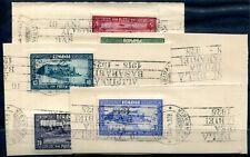 RUMÄNIEN 1928 329-335 gestempelt auf BRIEFSTÜCK ERSTTAG (A9331