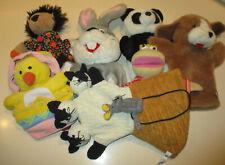 7 Marionnettes à main en peluche