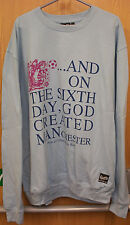 MENS BIG SIZE SWEAT SHIRT/TOP  FOOTBALL SIX DAY DESIGN COL BLUE 2XL