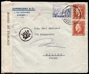 163 - Grecia - Busta da Atene a Milano, 1940