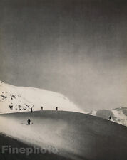 1935 Vintage Print SKIING WINTER LANDSCAPE Snow 16X20 Photo Fine Art, JEAN MORAL