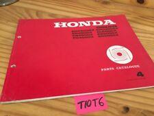 Générateur Honda parts list EM EB EG 4500 5000 X SX catalogue pièce détachée