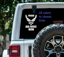 8 Sizes Proud Air force Mom Car Window Decal Sticker Tablet Macbook Laptop