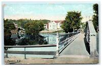 Postcard Franklin NH bridge view G20