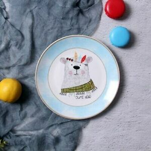 Dessert Plates Salad Cake Dinner Dishes Fruit Ceramic Breakfast Porcelain 8 Inch