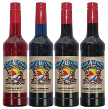 Choose Your Flavors! 4 Bottles of Snow Cone Syrup - Maui Tropic Brand