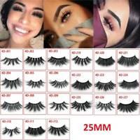 25mm False Eyelashes Thick Strip 25mm 3D Mink Makeup Dramatic Lashes