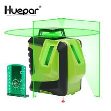 Huepar Vert Faisceau Croix Laser Niveau 360-Degrés Horizontal Deux Lignes Vertic