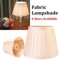 8'' to 18'' Champagne Fabric Box Pleat Lamp Shade Table Light Lampshade Cover