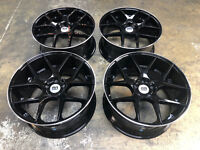 "20"" BLACK ALLOY WHEELS FITS BMW 3 SERIES E90 E91 E92 F30 GLOSS BLACK CONCAVE"