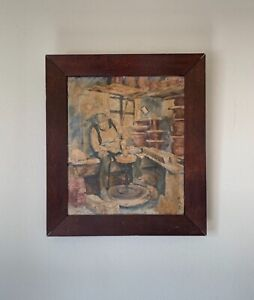 Beihong Xu (1895– 1953) Chinese Artist Oil Painting Signed