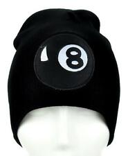 8 Ball Beanie Alternative Clothing Knit Cap 80's Vintage Style Pool Hustler