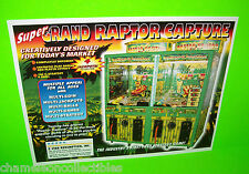 SUPER GRAND RAPTOR CAPTURE REDEMPTION ARCADE GAME MACHINE SALES FLYER