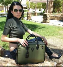 Furbo Design Albano Nylon Binder Briefcase Bag in Olive unisex messenger