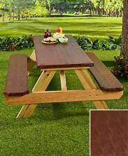 Picnic Table Covers 3 Pc Set Elastic Fitted Plastic Outdoor Table & Bench Seat