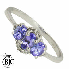 Anillos de joyería anillo de compromiso tanzanita diamante