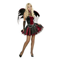 Adult Women's Vampire Velvet Red Black Victorian Gothic Medium Costume Dress