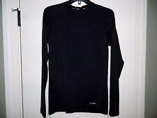 Men's Black Tek Gear Athletic Long Sleeve Shirt Size Small