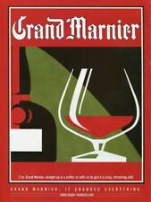 "2000 GRAND MARNIER MAGAZINE PRINT AD ""GRAND MARNIER CHANGES EVERYTHING"" BAR ART"