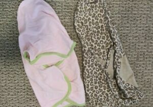 Baby Girl Swaddlers. Lot of 2 swaddle me brand