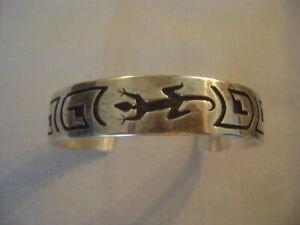 Sterling Silver Designer Cuff Bracelet Western Themed Gecko Lizard Tribal?