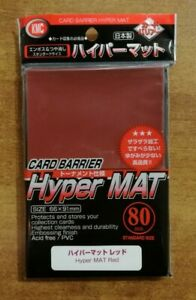 """KMC Hyper MAT """"RED"""" - Standard Size Sleeves - 80 Bustine Protettive - MTG"""