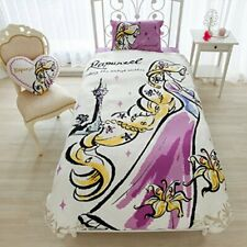 NEW Tangled Rapunzel Disney Princess Bed Pillow Watercolor Art Cover 3 Set