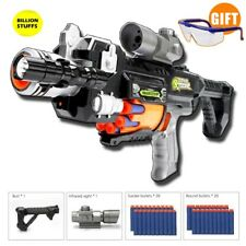 KIDS AIRSOFT PISTOL TOY GUN ELECTRIC HOLE TARGET FOAM BULLET OUTDOOR SNIPE SHOOT