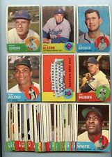 """LOT OF (50) DIFFERENT 1963 TOPPS BASEBALL CARDS, """"VG/EX"""" CONDITION, NICE !"""