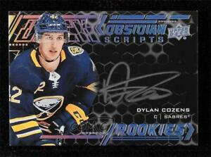 2020-21 SPx UD Black Obsidian Scripts Dylan Cozens #ORS-DC Rookie Auto RC