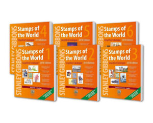 Stamps of The World 6 Volumes Simplified Catalogues Stanley Gibbions 2018 A-Z