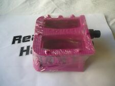 Colourful Pink Plastic Primo Bike Bicycle MTB DH XC BMX Pedals 9/16""