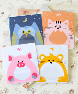 Lovely Animals Plastic Bags 20pc cute cartoon cello plastic OPP cookie giftwrap